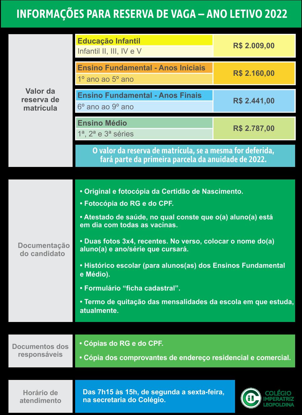 Informações para Reserva - Matricula 2022 V16_09
